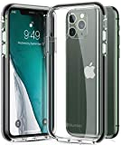 Humixx Stronghold Clear iPhone 11 Pro Case [10FT Military Grade Drop Tested] [Three Layer Protect by PolyOne] Shockproof Case Cover with Black Bumper for iPhone 11 Pro - 5.8 Inch (3 Cameras)