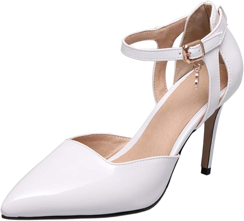 CularAcci Women Fashion Stiletto Sandals Buckle