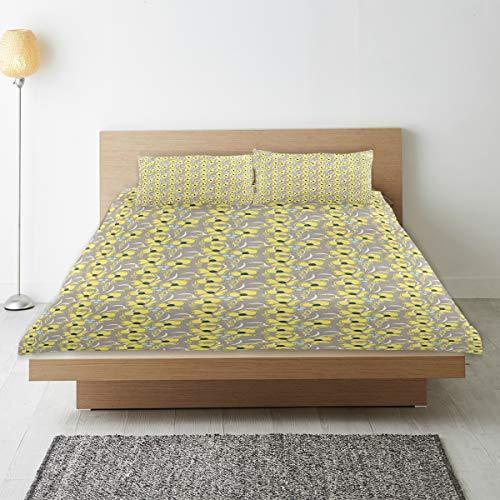 MANISENG Parure de lit,Impression de Printemps d'inspiration Garden Meadow,1 Housse de Couette 140x200 + 2 Taies d'Oreillers