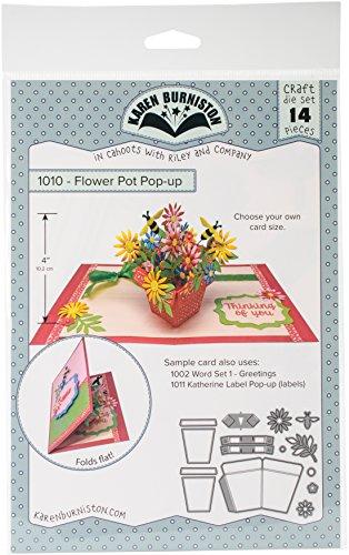 KB Riley 1010 Karen Burniston Dies-Flowerpot Pop-Up