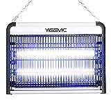 Yissvic Insektenvernichter Elektrisch 20W Led Mückenlampe mit UV-Licht gegen Motten, Mücken, Fliegen