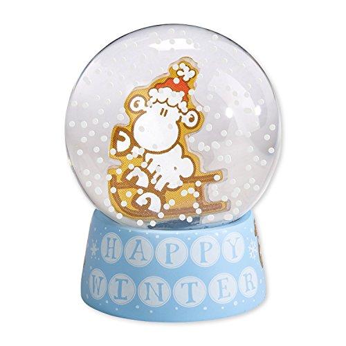 Sheepworld Happy Winter Traumkugel, Glas, blau, 4x4x6 cm