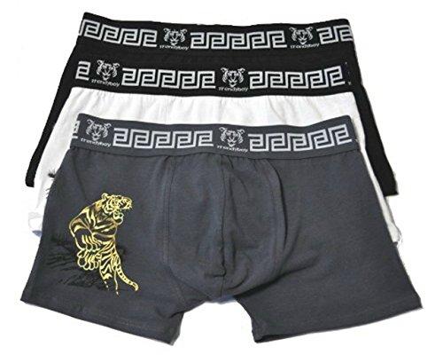 UOMO 3er Pack Heren Boxershorts Retro Boxer Shorts onderbroek katoen - IW034