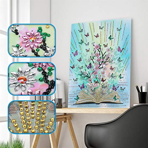 Special Shaped Diamond Painting Book Butterfly Flower DIY 5D Partial Drill Cross Stitch Kits Crystal Rhinestone Arts Home Decor
