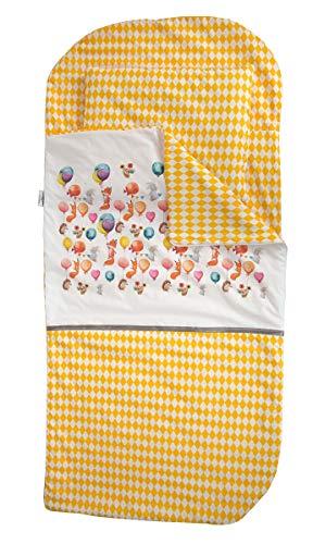 Sango Trade Nap 's Mat Slumber tas Hoeslaken Kleinkinderschlafsack Von 3 Bis 6-7 Jahre Schlafsack für Kleinkinder Krippe Kindergarten Zuhause Bettwäsche für Kinderbett (Vergnügungspark)