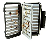 Kingfisher Fly Box-Large Fishing Go to Fly Box w/Swing Leaf Center Item 1209