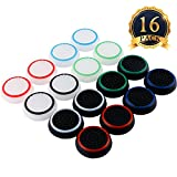 SUBANG 16 Pieces Silicone Noctilucent Thumb Grip Caps Controller Joystick Cap Covers for PS3, PS4, Xbox 360, Xbox One Analog Stick Caps Replacement