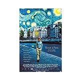 Poster Midnight In Paris (2011), Heimdekoration, Seide,