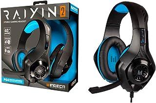 Indeca - Auricular casco estéreo multiplataforma Raiyin 2.0 (PS4, Xbox One, Pc, Mac)