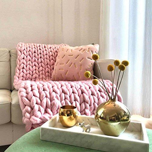 Adorist small (80x130cm) - Wolldecke Cosima Chunky Knit small 80x130cm, babypink rosa