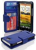 Cadorabo Hülle für HTC ONE X/X+ in Neptun BLAU – Handyhülle mit Magnetverschluss & 3 Kartenfächern – Hülle Cover Schutzhülle Etui Tasche Book Klapp Style