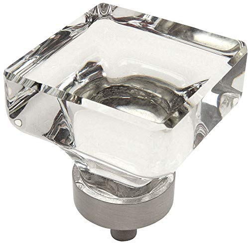 Top cabinet knobs square glass for 2021