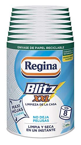 Regina Blitz XXL Papel Cocina | 8 unidades | Máxima absorbe