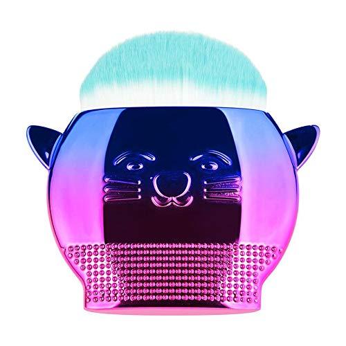 MEIYY Pinceau de maquillage 1Pcs Powder Foundation Brush Cute Cat Shape Makeup Brush Gradient Handle Powder Brush Comestics Tool For Women