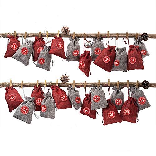 calendario avvento 12 giorni Queta Sacchetti del Calendario dell'Avvento per Il Riempimento