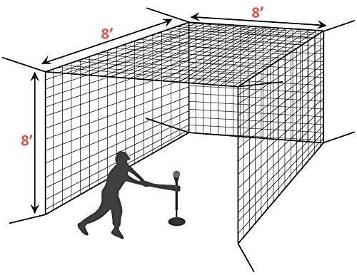 Cricket Softball Practice Protective Screen Aoneky Baseball Batting Training Net Hitting Pitching Catching Backstop Netting