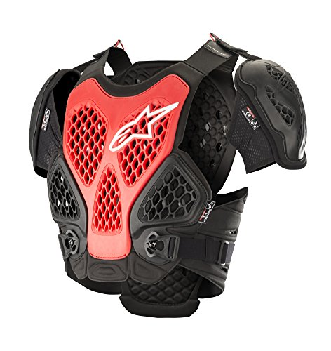 Alpinestars Protector De Pecho Mx Bionic Negro-Rojo (Xs/S, Negro)