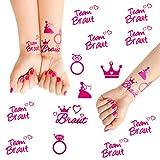 Oblique Unique Junggesellinnenabschied temporäres Tattoo Set Braut - Team Braut Hochzeit Pink