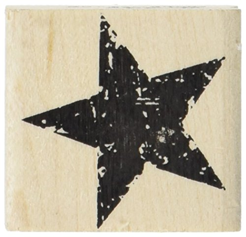 Tim Holtz Red Rubber Stamp-Star Silhouette 1.5'X1.5'