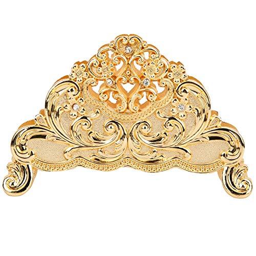 Serviettenhalter aus Metall Rustikaler Serviettenständer Gold und Silber vertikales Design Für Hotel Restaurant Esstisch(Gold)
