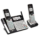 AT&T TL96273 DECT 6.0 Expandable Cordless Phone with Bluetooth Connect to Cell, Answering System and Base Speakerphone, 2 Handsets, Silver/Black