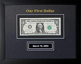 First Dollar Frame with Date, 8 1/2