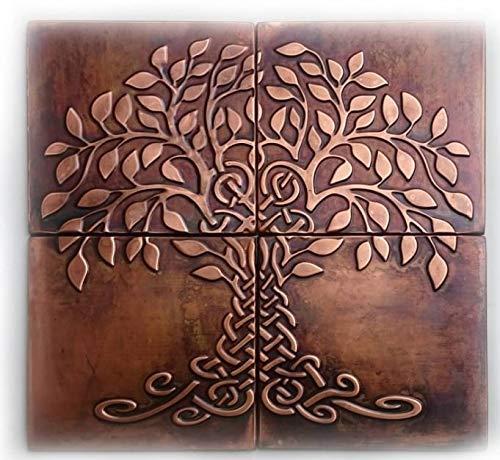 Copper Kitchen Backsplash Tiles SET OF 4