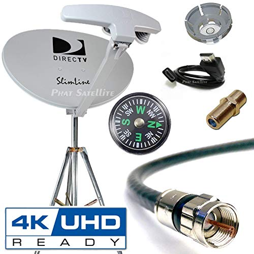 AT&T DIRECTV SWM SL5S Portable RV Camping Satellite Dish Kit with Tripod SWiM