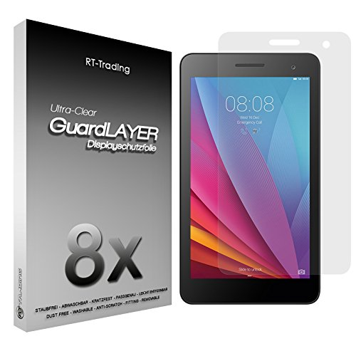 2x Huawei MediaPad T1 7.0 - Bildschirm Schutzfolie Klar Folie Schutz Bildschirm Screen Protector Bildschirmfolie - RT-Trading