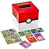 Hallmark Valentines Day Cards for Kids and Mailbox for Classroom Exchange, Pokémon (1 Box, 32 Valentine Cards, 35 Stickers, 1 Teacher Card)