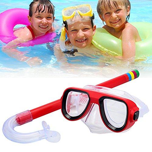YETE Sommer Kinder Schwimmbrille mit Totally Dry Schnorchel für Kinder Tauchen Schnorcheln Schwimmen, Maske Glaslinse PVC, Alter 7-15