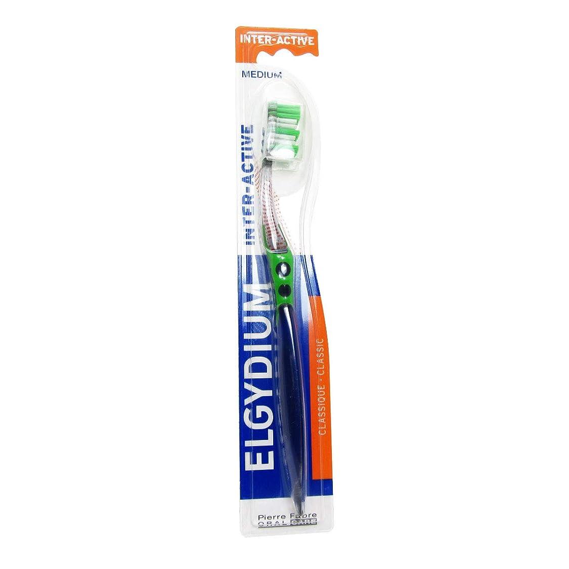 ドキドキ系統的赤道Elgydium Inter-active Medium Toothbrush [並行輸入品]