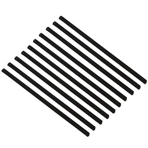 GADHNN 10 Unids 6 Pulgadas De Acero Inoxidable Hacksaw Blade Multifuncional De Acero Al Carbono Manual Modelo De Bricolaje Modelo Manual Hoja De Sierra (Color : Black)
