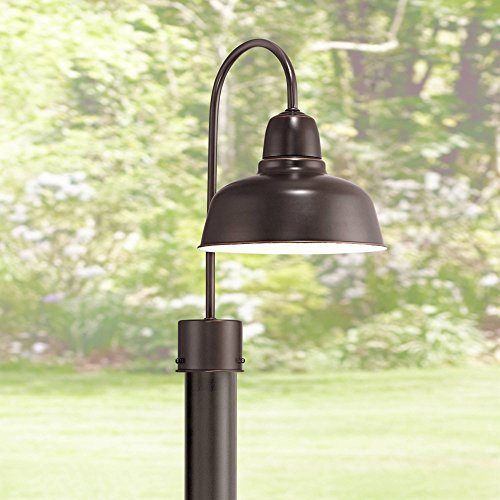 Urban Barn Industrial Outdoor Post Light Fixture Farmhouse Oil Rubbed Bronze 15 3/4