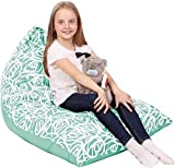 5 STARS UNITED Kids Bean Bag - COVER ONLY - Stuffed Animal Storage