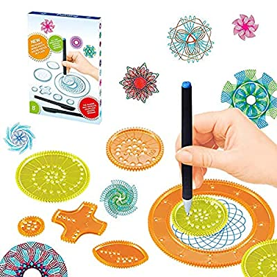 Amazon - 50% Off on Geometric Ruler Set 22 Pieces of Plastic Template Ruler Spiral Art Crafts