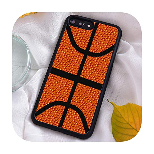 Funda de silicona TPU para iPhone 7 8 Plus X Xs 11 Pro Max XR 12 12mini 5 5S 6 6S Baloncesto Textura Real 32A-ACC-para Samsung S20
