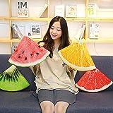 Yuhualiyi123 Kreative Simulation Sommer Cool Watermelon Obst Kissen Ice Cream Orange Kissen Oval...