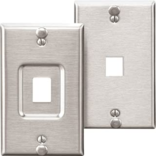 Leviton Recessed Wallphone Wall Plate - 1-Port, Stainless