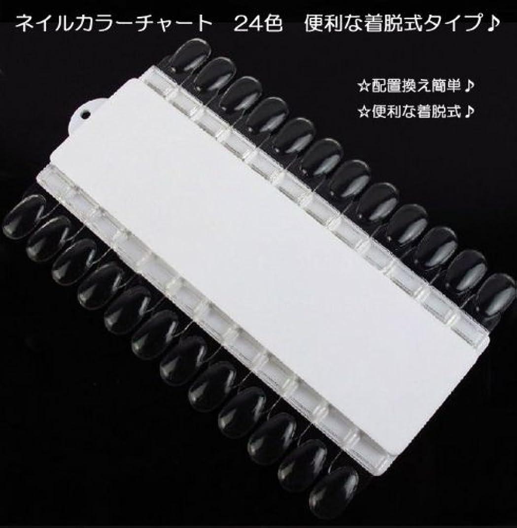 バッテリーウミウシチョップ【新入荷!】ネイルカラーチャート 24色 便利な着脱式タイプ?