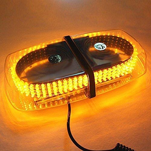 Preisvergleich Produktbild THG Auto Rundumleuchte Warnleuchte Signal Warnleuchte Blinkleuchte Alarm Licht Blitzleuchte Xenon Magnetleuchte Strobo Blinklicht Wasserdicht,  12V / 24V,  20W,  240,  7 Modus-Wechsler,  Gelb