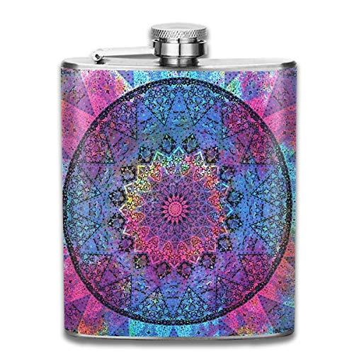 Indiase Hippie Boheemse Flask RVS Kleine Hip Flask Mens Lekvrije Vlagon Outdoor Draagbare Flask voor Alcohol Whiskey Rum en Vodka