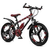Ragazzi Girls Bike, Bambini Mountain Bike 20 22 Ruote Da 24 Pollici 21 Velocità 21 Velocità Variabile Disc Brake Mountain Bicycle, Bambini Bicycle Cruiser Bicycle ( Color : Red-A , Size : 24 inches )