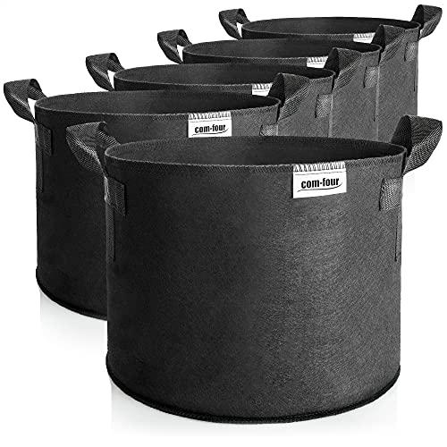 com-four® 5X Saco para Plantas 95 L - Tarrina para Tomates con Asas - Bolsa para Plantas - Macetero...