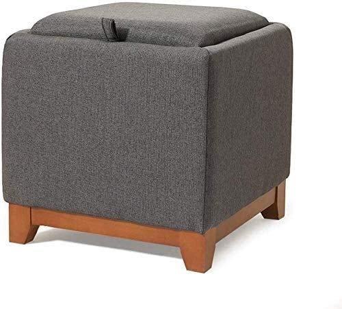 YYT Taburete práctico Moda para sofás Taburete Cuadrado Cubierta de sobresalta Puede Sentarse para Adultos Cambio Creativo Casa Multi-Funtio Banco de Zapatos Multicolor Opcional Brown