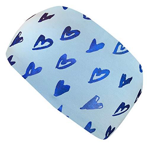 Wollhuhn ÖKO Damen/Mädchen Zauberhaftes Elastisches Schimmer-Herzen Haarband/Stirnband Blau 20203007