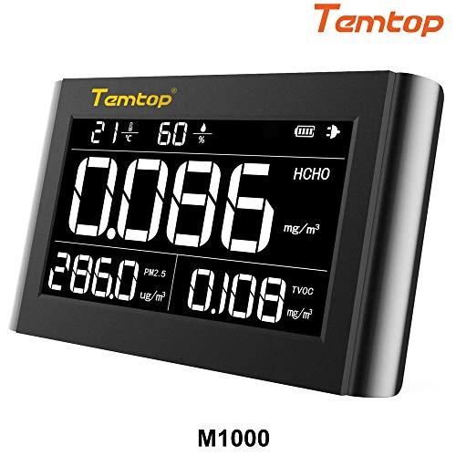 Luftqualität Messgerät-Therm M1000 Luftqualitätsmonitor für PM2.5 HCHO TVOC Formaldehyd Temperatur Luftfeuchtigkeit Indoor Detektor Große LCD-Anzeige【3 Jahre Garantie】