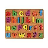 ACHICOO Niño Juguetes Educativos Tempranos de la Mano de Agarre de Madera Puzzle de Juguete Alfabeto Dígitos de Aprendizaje de Madera Rompecabezas Juguete minúscula Mordaza Regalos para Niños