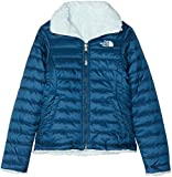 The North Face Kids TNF Chaqueta Reversible Mossbud Swirl, Niñas, Blue Wing Teal/Origin Blue, L