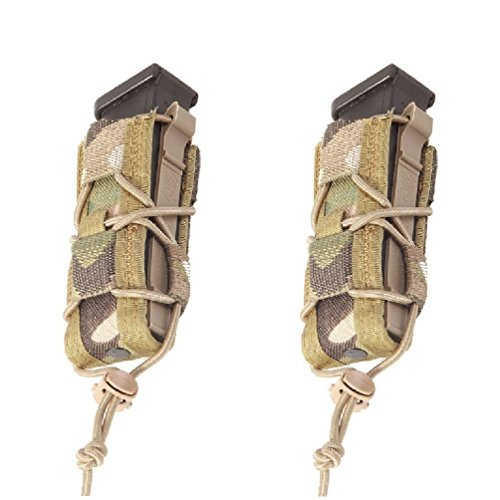 High Speed Gear Single Pistol Taco Mag Pouch | Universal Pistol Magazine Holster | Rapid Response and MOLLE Compatible (Multicam, 2 Pack)